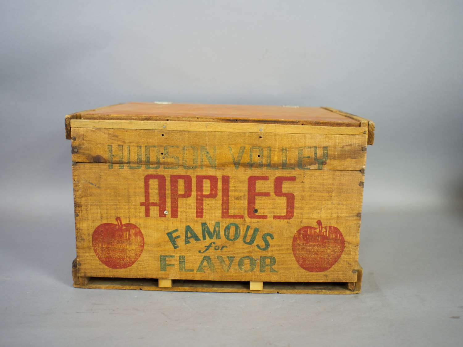 Vintage Apple Crate Wood Sevenbc Etsy