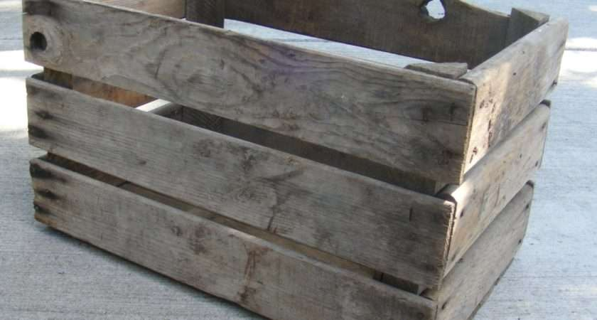 Vintage Apple Crate Wooden Fruit Box Rustic Wood