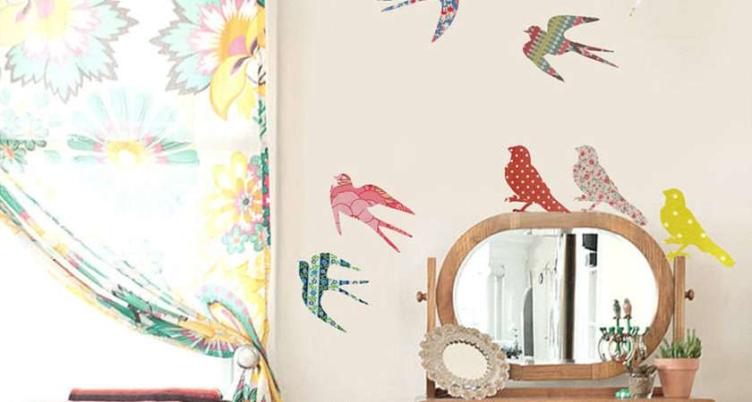 Vintage Bird Vinyl Wall Stickers Contemporary