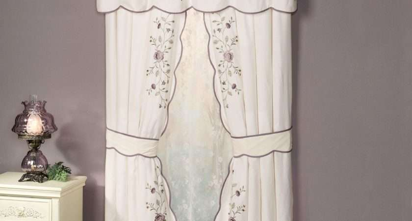 Vintage Bloom Embroidered Window Treatments