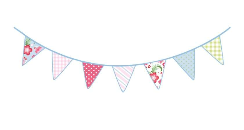 Vintage Bunting Wall Stickers