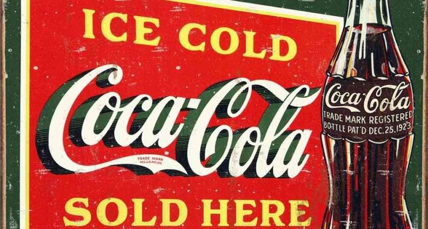 Vintage Coke Sign Tin Oneposter