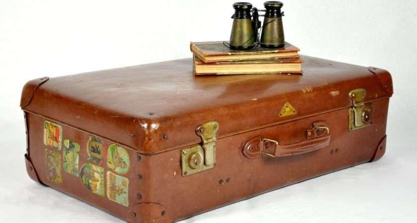 Vintage Faux Leather Suitcase Havenvintage Etsy