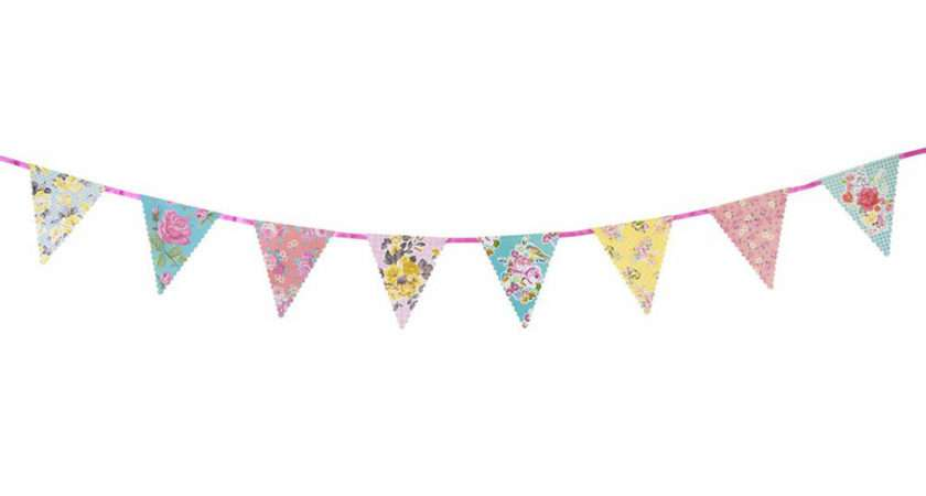 Vintage Floral Bunting Postbox Party