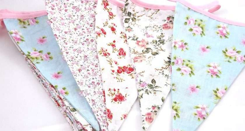 Vintage Floral Bunting Shabby Chic Love Pinterest