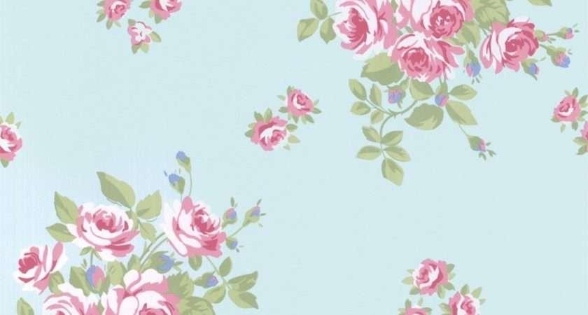 Vintage Floral Print Wallmaya