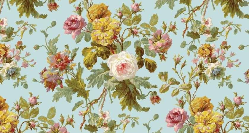 Vintage Floral Print Wallpaperhdc