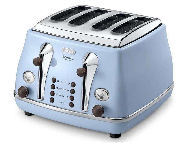 Vintage Icona Sky Blue Slice Toaster Delonghi New Zealand Toasters