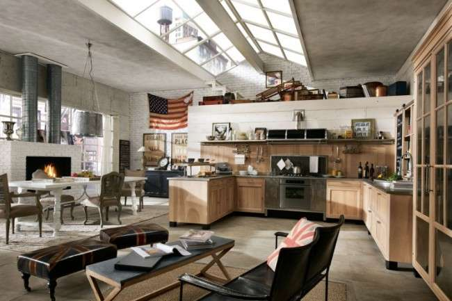 Vintage Industrial Style Kitchens