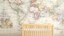 Vintage Map Mural Kids Room
