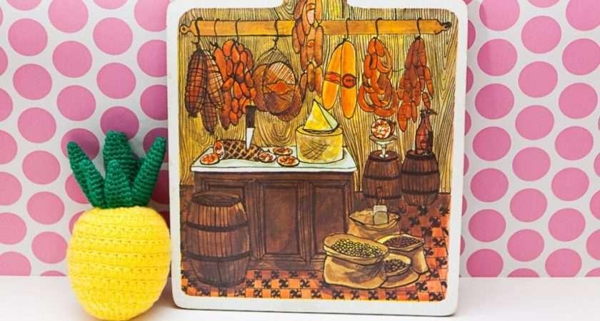 Vintage Melamine Chopping Board Charcuterie