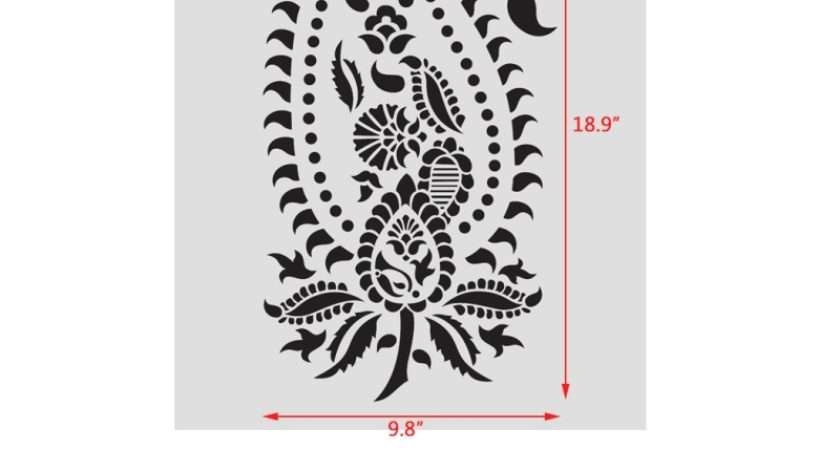 Vintage Paisley Stencil Damask Pattern Diy Wall Decor