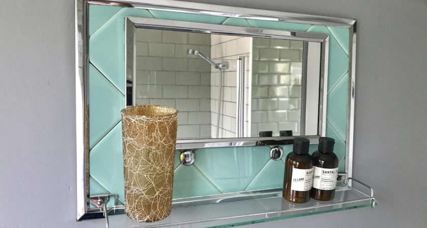 Vintage Retro Bathroom Mirror Shelf Vinterior