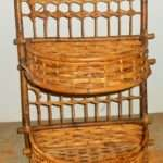 Vintage Shelf Bamboo Wicker Rattan Hanging Baskets Wall