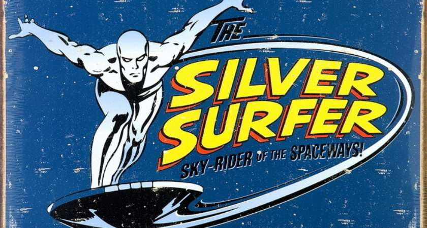 Vintage Silver Surfer Tin Signs Metal Sale Europosters