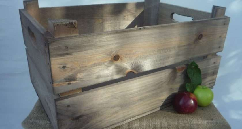 Vintage Style Apple Crate Crates