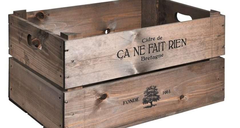 Vintage Style Apple Crate