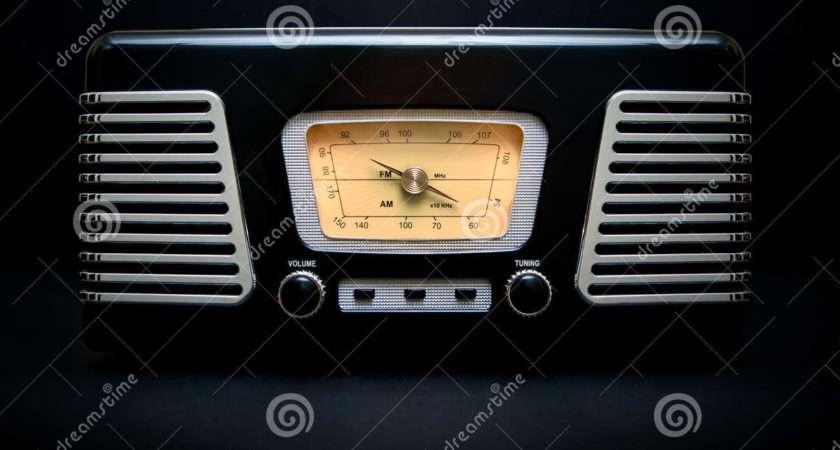 Vintage Style Black Chrome Radio Record Player