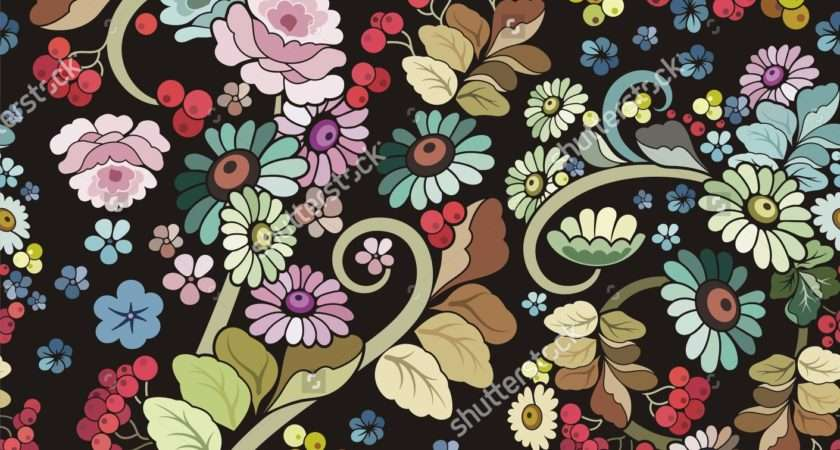 Vintage Style Floral Wallpaperhdc
