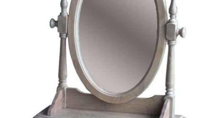 Vintage Whitewash Vanity Dressing Table Top Mirror Buy
