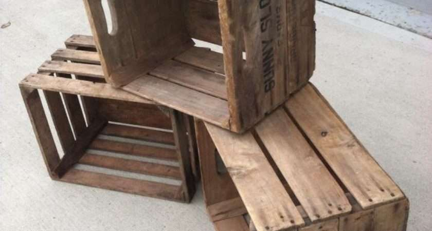 Vintage Wooden Apple Crate Vintagecrates Etsy