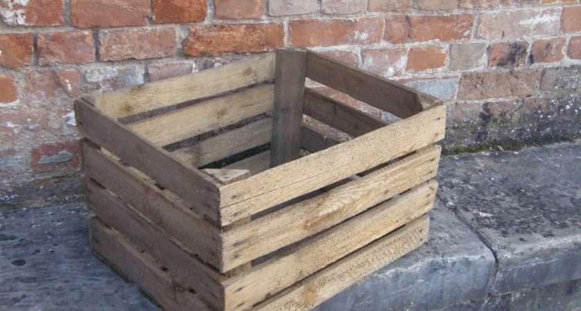 Vintage Wooden Apple Crates Haute Juice