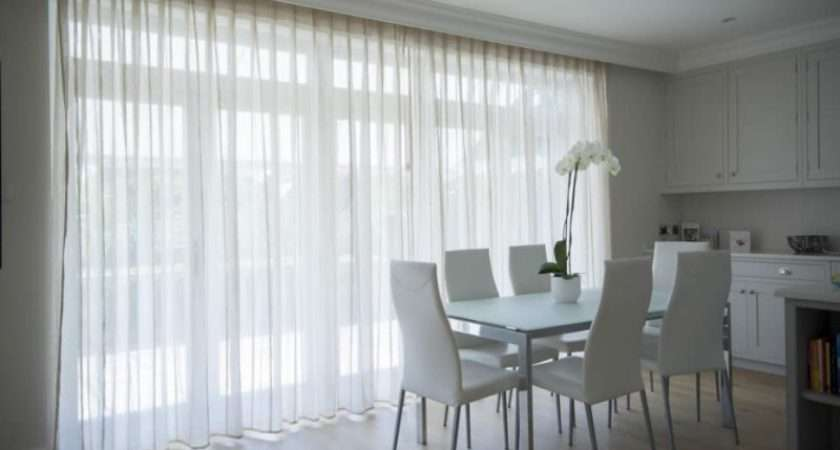 Voile Curtains Large Patio French Doors Glazed Area
