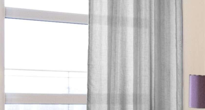 Voile Panels Leona Silver Eyelet Panel