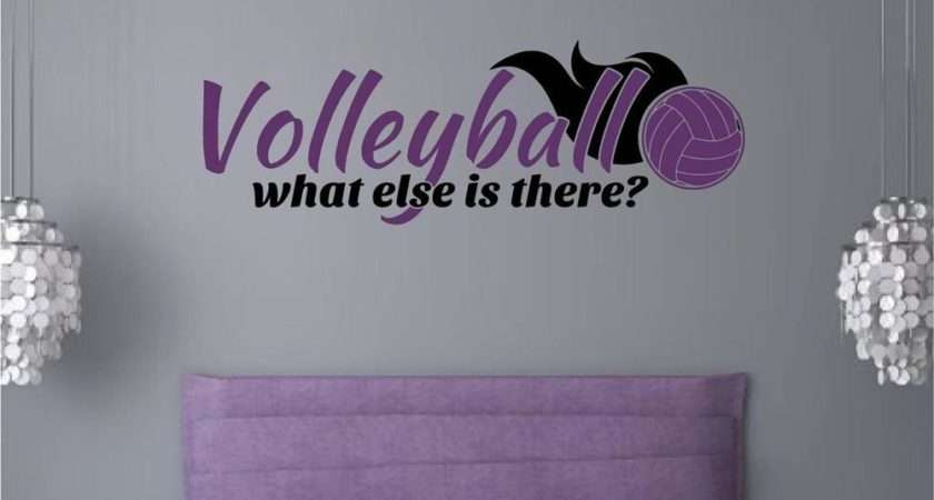 Volleyball Sports Vinyl Decal Wall Stickers Words Letters
