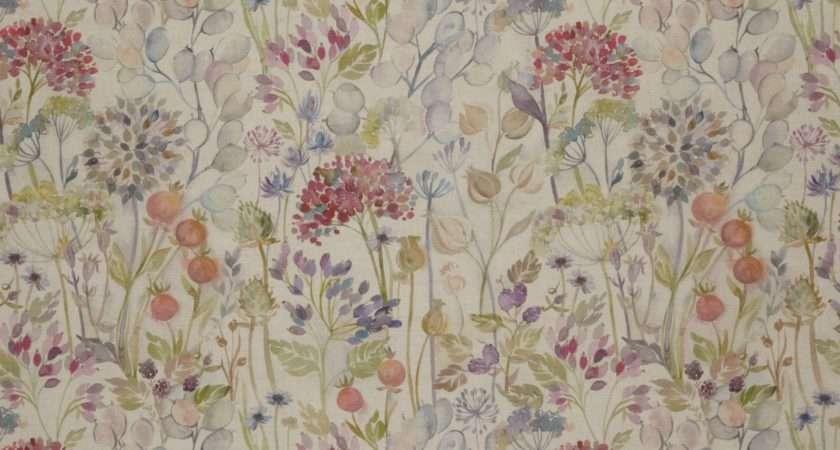Voyage Hedgerow Linen Furnishing Fabric Multi Octer