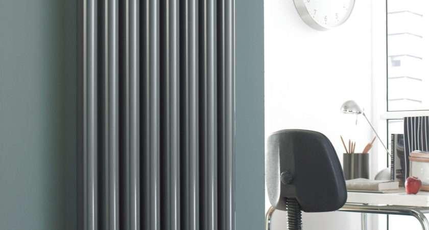 Vulkan Round Tube Single Vertical White Designer