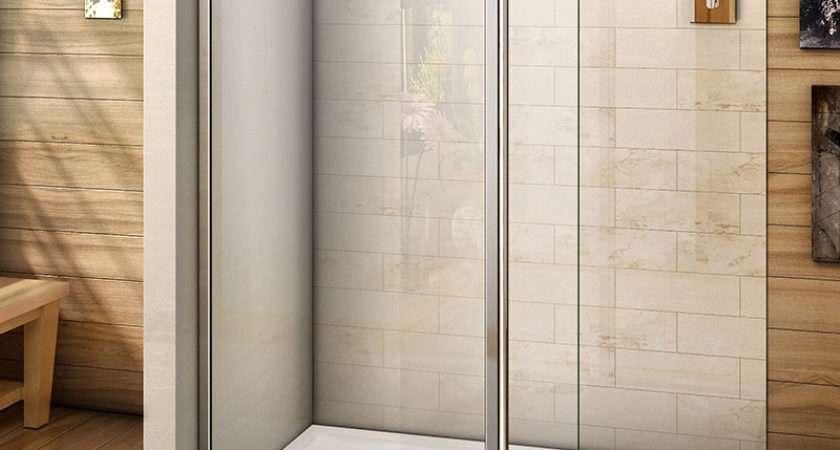 Walk Wet Room Shower Enclosure Tray Flipper Screen