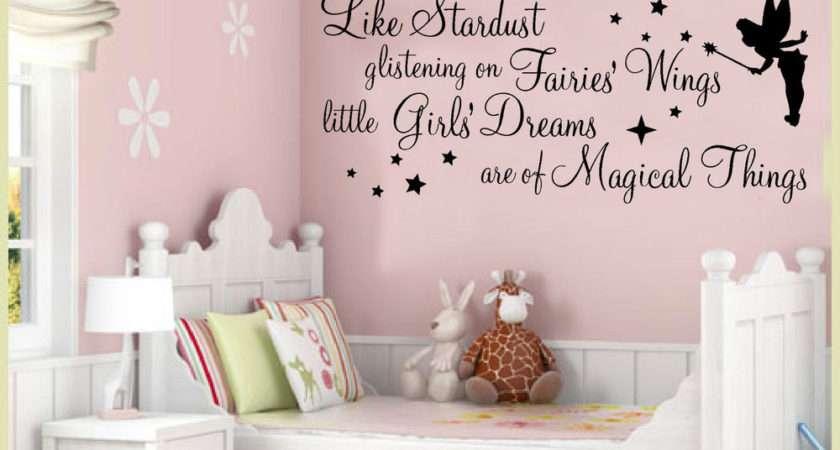 Wall Art Stickers Quotes Stardust Glistening Fairy Girls