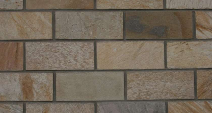 Wall Cladding Slate Mushroom Offset Mosaic Tumbled Tiles