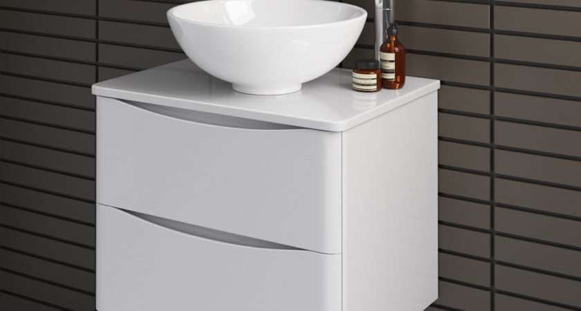 Wall Hung Bathroom Storage Vanity Unit Countertop