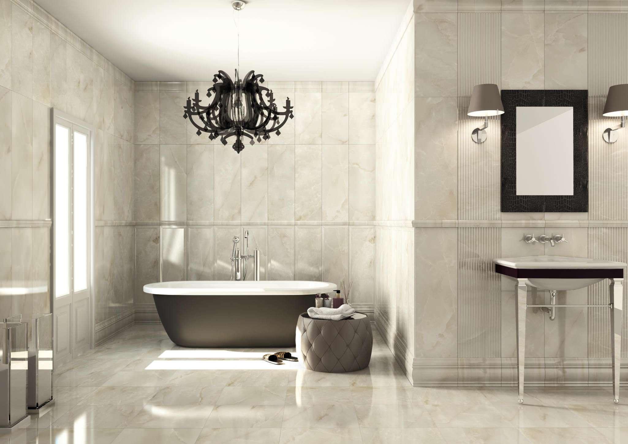 Wall Mounted Modern Bathroom Tiles Walls Ideas
