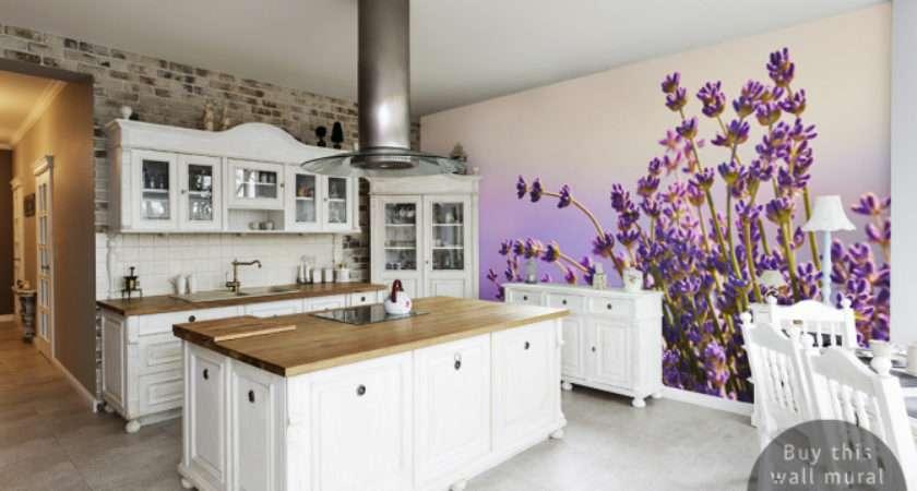 Wall Mural Lavender Kitchen Inspirations Pixersize