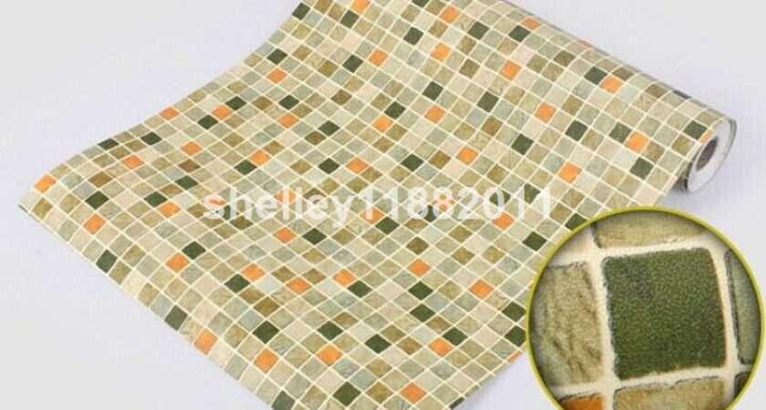 Wall Paper Sticker Tile Floor Kitchen Bathroom Waterproof Ebay