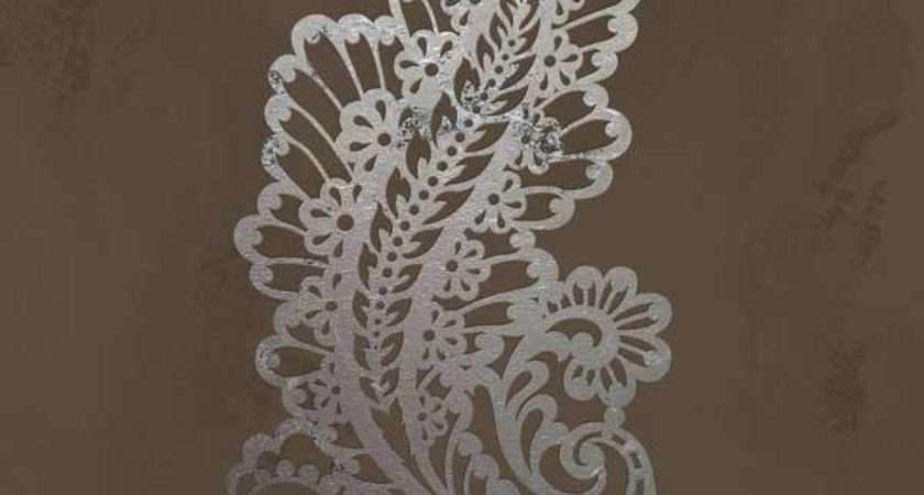 Wall Stencil Paisley Impression Royal Design