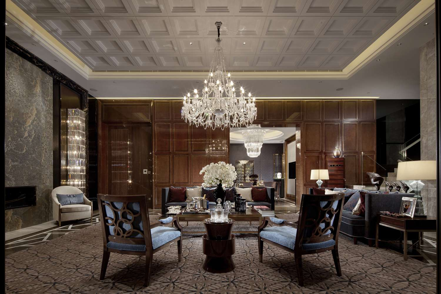 Walls Chandelier Formal Sitting Steve Leung Interior Design Ideas