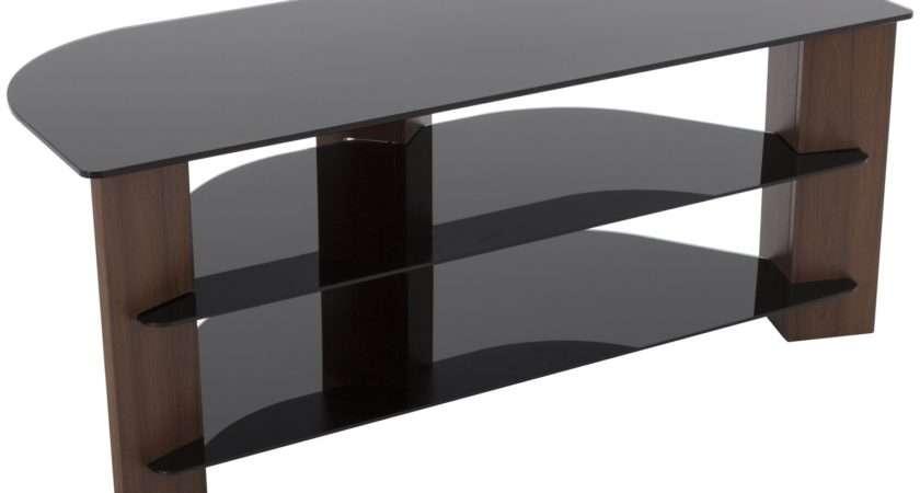 Walnut Black Glass Inch Stand Review