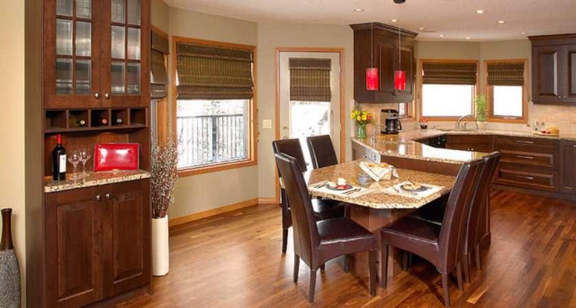 Walnut Hardwood Floor Kitchen Contemporary