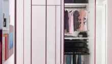 Wardrobes Stunning Minimalist Kids White Purple