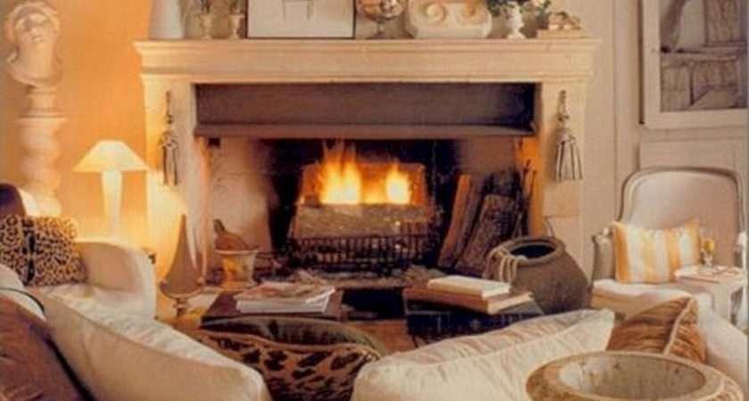 Warm Cozy Cottage Living Rooms Spaces