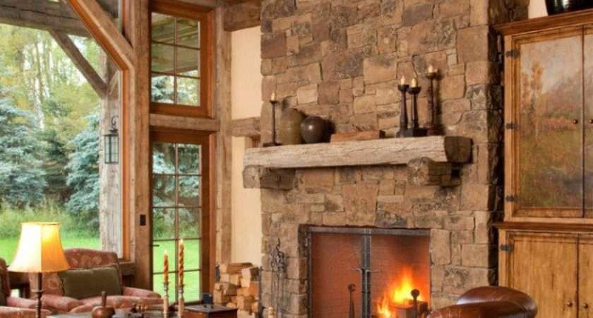 Warm Cozy Rustic Living Room Designs Winter
