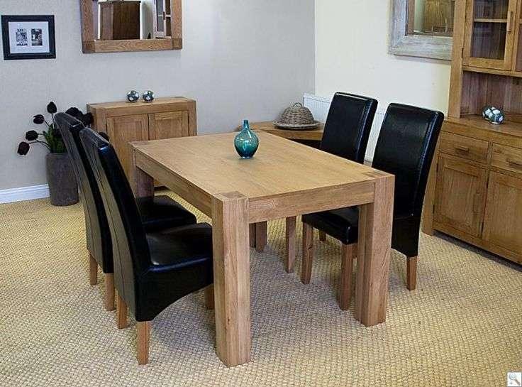 Washington Solid Oak Table Ohio Leather Chairs Choice
