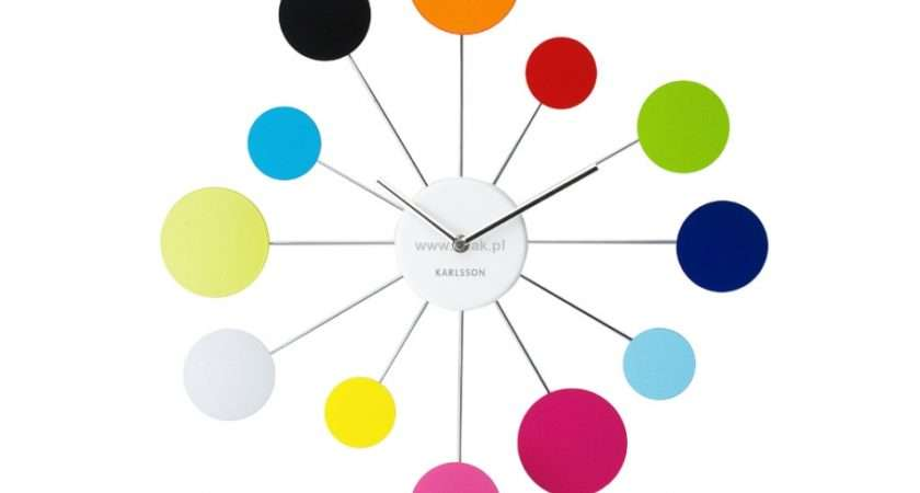 Water Lily Multi Coloured Clock Colourful Wall Pinterest