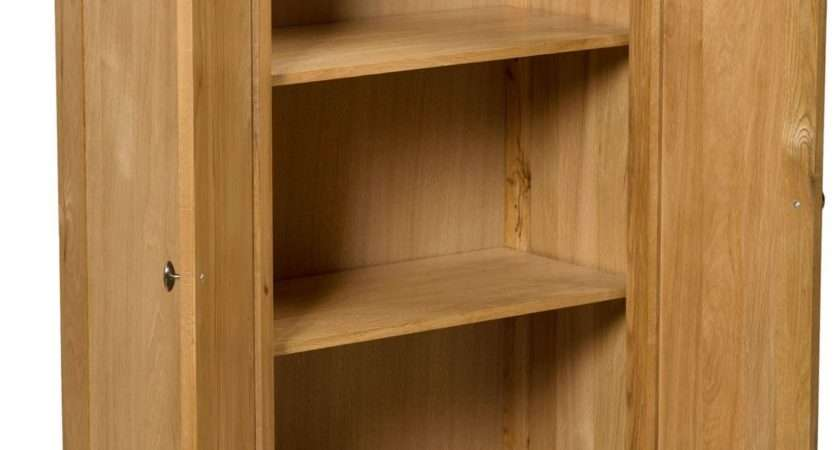 Waverly Oak Small Wide Cabinet Cupboard Shelves