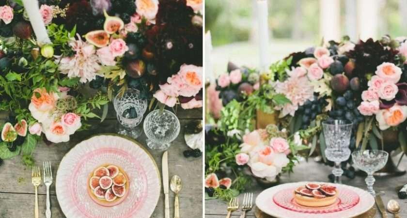 Wedding Colour Scheme Blush Plum