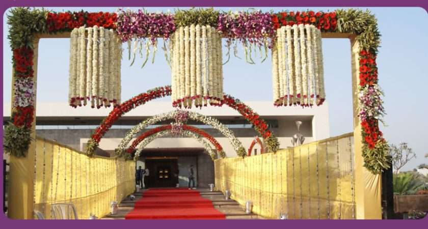 Wedding Planner Indian Hall Mandap Entrance Decorations